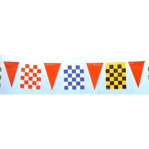 【2個から販売】H-7 チェッカー旗(21枚付) アソートOK【連続旗】|pr-youhin