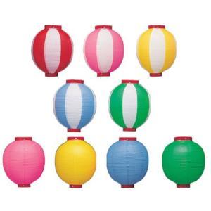 【4個から販売】新K 9号丸型ビニール提灯 カラフル/赤枠 24×36cm 祭り・装飾ちょうちん|pr-youhin