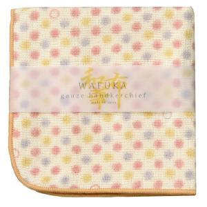 大阪・泉州で丁寧に織られたコットンガーゼのハンカチは、パイル地の吸水性とふんわりやさしいガーゼの肌ざ...