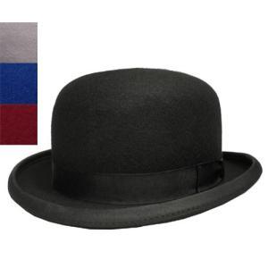 55cbaac2893d34 Denton Hat デントンハット 24210 ボーラーハット 黒 ブラック グレー ブルー 赤