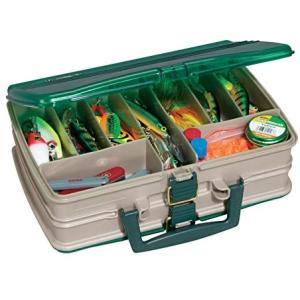 PLANO タックルボックス アタッシュケース型 両開き20仕切り SAND/GREEN 1120-00 (マルチ One Size)|praticopratico