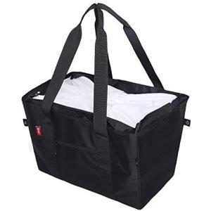 nicoly 肩から提げれる 保冷ショッピングバッグ 26L (ブラック)