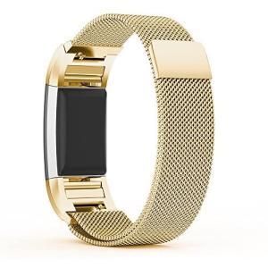 Fitbit Charge 2 バンドPinhen Fitbit Charge2ステンレス鋼バンド (Gold)|praticopratico