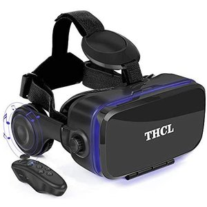 VR ゴーグル VRヘッドセット 「2020新型」 アンチブルーレンズ 3D ゲーム 映画 動画 4.7〜6.2インチの iPhone (黒) praticopratico