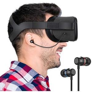KIWI design Oculus Quest 専用インイヤーヘッドホン イヤホン ステレオ 高音質 オキュラス クエスト用 (ブラック)|praticopratico