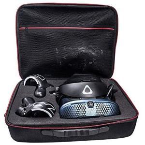 HTC VIVE Cosmos 専用ケース,VRヘッドセットトラベルケース 耐衝撃 コントローラ 小物収納可能 (ブラック) (ブラック) praticopratico