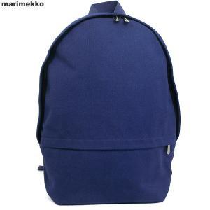マリメッコ marimekko リュックサック ENNI REPPU 043705 505/ブルー コットンキャンバス|pre-ma