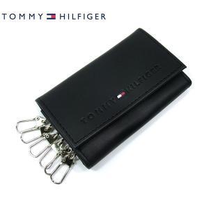 【アウトレット】トミーヒルフィガー キーケース 6連 / ブラック レザー TOMMY HILFIGER 31TL17X005 94-4858|pre-ma