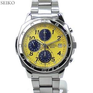 セイコー SEIKO クォーツ 腕時計 SND409P クロノグラフ 50ATM メンズ  イエロー 海外逆輸入|pre-ma