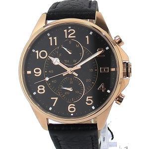 【アウトレット展示品】トミー ヒルフィガー TOMMY HILFIGAR 腕時計 メンズ RG/ブラック レザー 1791273|pre-ma