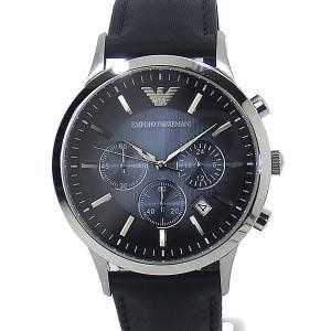 【アウトレット展示品処分】エンポリオ アルマーニ  メンズ 腕時計 AR2473 クロノグラフ EMPORIO ARMANI  ネイビー レザー|pre-ma