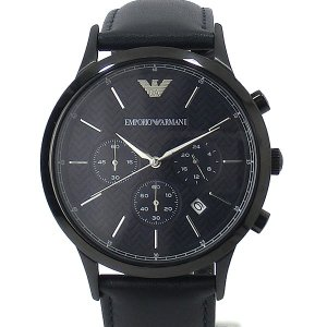 エンポリオ アルマーニ  メンズ 腕時計 AR2481 クロノグラフ EMPORIO ARMANI  ダークネイビー レザー 43mm【アウトレット展示品】|pre-ma