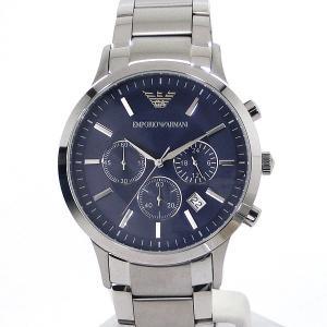 エンポリオ アルマーニ  EMPORIO ARMANI  AR2448 メンズ 腕時計 クロノグラフ ネイビー ステンレス 新品アウトレット|pre-ma