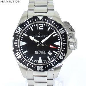 ハミルトン 腕時計 カーキネイビー H77605135 オープンウォーターブラック 自動巻 メンズ HAMILTON【アウトレット超特価】|pre-ma