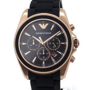 エンポリオ アルマーニ  メンズ 腕時計 AR6066  クロノグラフ EMPORIO ARMANI  CLASSIC SIGMA ラバー/ローズゴールド 新品|pre-ma