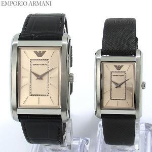 エンポリオ アルマーニ  EMPORIO ARMANI  腕時計 AR9040 ペアウォッチ トノー ブラウンレザー 【アウトレット訳あり】|pre-ma