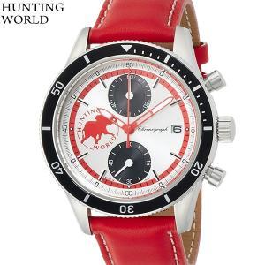 ハンティングワールド メンズ腕時計 HW024RD  グランド クロノグラフ HUNTING WORLD 決算セール|pre-ma