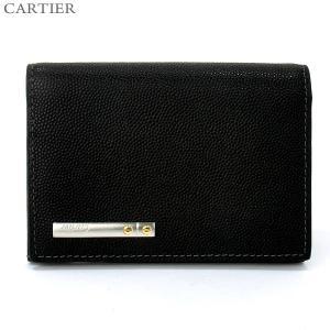 【アウトレット・エラー品】Cartier カルティエ  SANTOS サントスライン 名刺入れ/カードケース L3000771|pre-ma