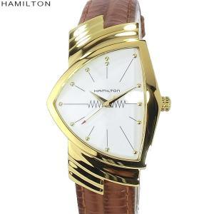 【アウトレット展示品】ハミルトン ベンチュラ 腕時計 H24301511 YG/ブラウンレザー VENTURA  メンズ クォーツ|pre-ma