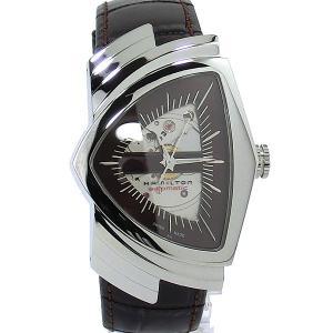 ハミルトン ベンチュラ オート HAMILTON 腕時計 H24515591 ブラウン VENTURA AUTO メンズ【アウトレット展示品】|pre-ma