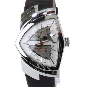 【アウトレット・キズ有特価】ハミルトン ベンチュラ オート HAMILTON 腕時計 H24515551 シルバー/ブラウン VENTURA AUTO メンズ|pre-ma