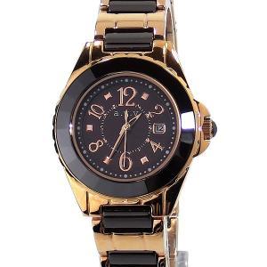 a.v.v アーヴェヴェ  レディース ソーラー腕時計 AVV003PBR ピンクゴールド/ブラウン アウトレット|pre-ma