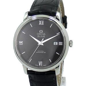 オメガ  デビル デ・ヴィル プレステージ OMEGA 424.13.40.20.01.001 クロノメーター メンズ 腕時計 自動巻 アウトレット|pre-ma