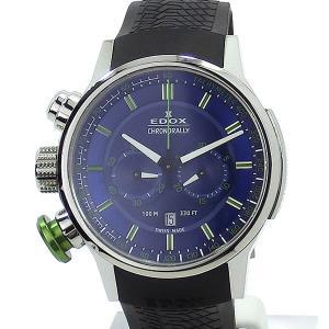EDOX エドックス 腕時計 クロノラリー 10302 3V2 BUV3 ラバー 10ATM メンズ  展示品アウトレット|pre-ma