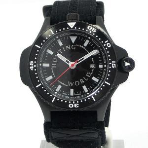 HUNTING WORLD ハンティングワールド メンズ腕時計 HWC010BK コンパス付 ブラック/ブラック 正規店 限定モデル|pre-ma