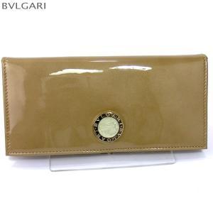 ブルガリ 財布 BVLGARI  長財布 33761 Pearled Patent Leather Antique Gold レディース 【新品アウトレット】|pre-ma