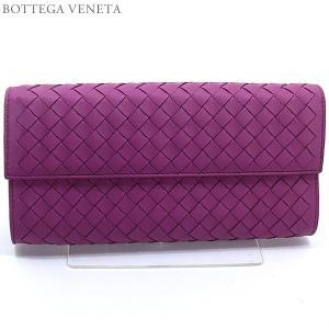 ボッテガヴェネタ 長財布 二つ折り 150509 V001N 5500 PEONIA/ピンクパープル BOTTEGA VENETA|pre-ma