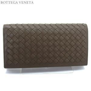 ボッテガヴェネタ 長財布 二つ折り 156819 V4651 2905  グレーブラウン BOTTEGA VENETA|pre-ma