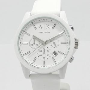 アルマーニ エクスチェンジ 腕時計 AX1325 クロノグラフ ホワイトラバー ARMANI EXCHANGE 新品アウトレット特価 pre-ma