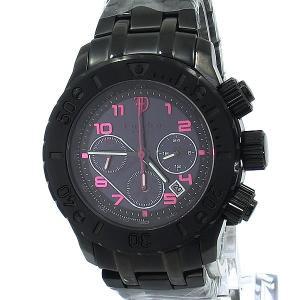 フルボ デザイン 腕時計 ソーラー FS301BBKRD クロノグラフ メンズ ブラック|pre-ma