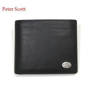 Peter Scott ピータースコット 財布 二つ折り ブラック 0602BK 本革 小銭入れ付|pre-ma