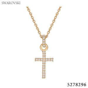 スワロフスキー SWAROVSKI  ネックレス MINI CROSS  5278296 ローズゴールド【アウトレット特価】|pre-ma