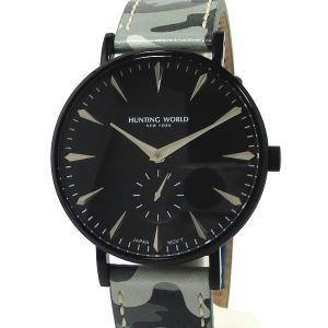 ハンティングワールド メンズ腕時計 HW950BBK AUSTERE オースティア 新品 決算SSP|pre-ma