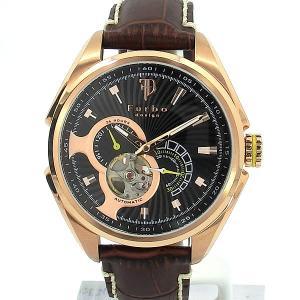 フルボ デザイン 腕時計 自動巻 F7001PBKBR メンズ レザー JAPAN MADE 【アウトレット】|pre-ma