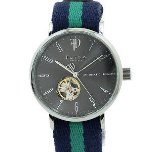 フルボ デザイン 腕時計 自動巻 F2001SNVGR メンズ コットン/レザーベルト JAPAN MADE 【アウトレット】|pre-ma