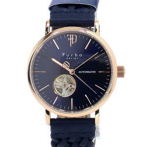 フルボ デザイン 腕時計 自動巻  F2002PNVNV 編込み PG/ネイビー レザー メンズ 【アウトレット特価】|pre-ma