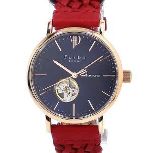 フルボ デザイン 腕時計 自動巻  F2002PNVRD 編込み ネイビー/レッド レザー メンズ  【アウトレット特価】|pre-ma