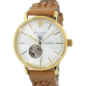 フルボ デザイン 腕時計 自動巻  F2002YSILB 編込み YG/ライトブラウン レザー メンズ  【アウトレット特価】|pre-ma