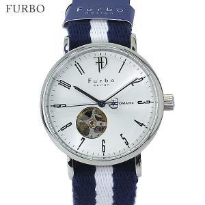 【アウトレット化粧箱なし】フルボ デザイン 腕時計 自動巻 F2001SNVWH メンズ コットン/レザーベルト JAPAN MADE pre-ma