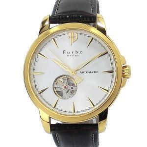 【アウトレット化粧箱なし】フルボ デザイン 腕時計 自動巻 F5027YSIBR メンズ イタリアンレザー 42mm  日本製ムーヴ|pre-ma