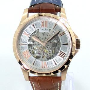 【アウトレット化粧箱なし】フルボ デザイン 腕時計 自動巻 F5021PSIBR メンズ レザー JAPAN MADE|pre-ma