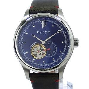 フルボ デザイン 腕時計 自動巻 F5030SBLBL メンズ レザー ネイビー JAPAN MOVEMENT 【アウトレット特価】|pre-ma