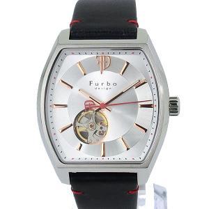 フルボ デザイン 腕時計 自動巻 F8201SSINV トノー メンズ レザー SV/NV JAPAN MOVEMENT 【アウトレット特価】|pre-ma