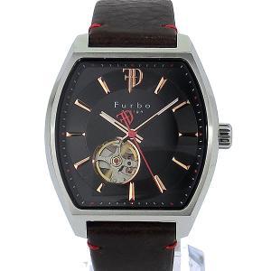 フルボ デザイン 腕時計 自動巻 F8201SBKBR トノー メンズ レザー BK/BR JAPAN MOVEMENT 【アウトレット特価】|pre-ma