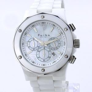 フルボ デザイン 腕時計 ソーラー FS302CWH 45mm クロノグラフ ホワイトセラミック メンズ Furbo Design|pre-ma