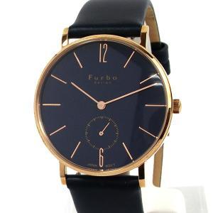 フルボ デザイン 腕時計 クォーツ FREE NOTE F01-PNVNV メンズ ピンクゴールド/ネイビーレザー JAPAN MOVEMENT【展示品アウトレット】|pre-ma